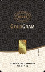 0.5 gram IGR 999.9 Fine Gold Bullion