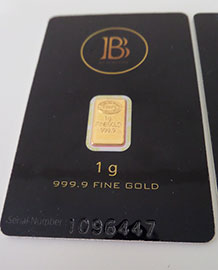 BlackCoin 999.9 Fine Gold Bars